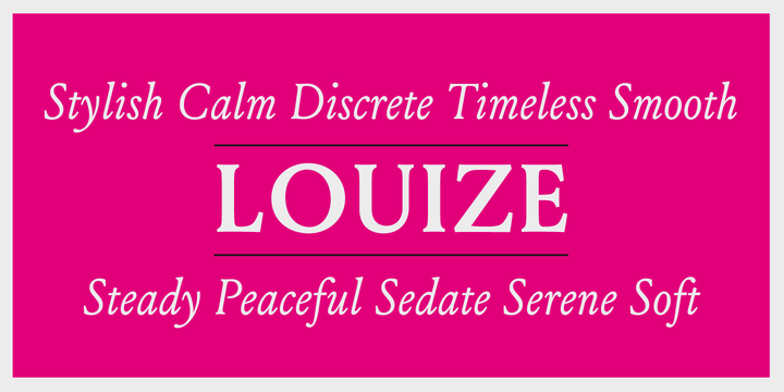 Louize [12 Fonts] | The Fonts Master