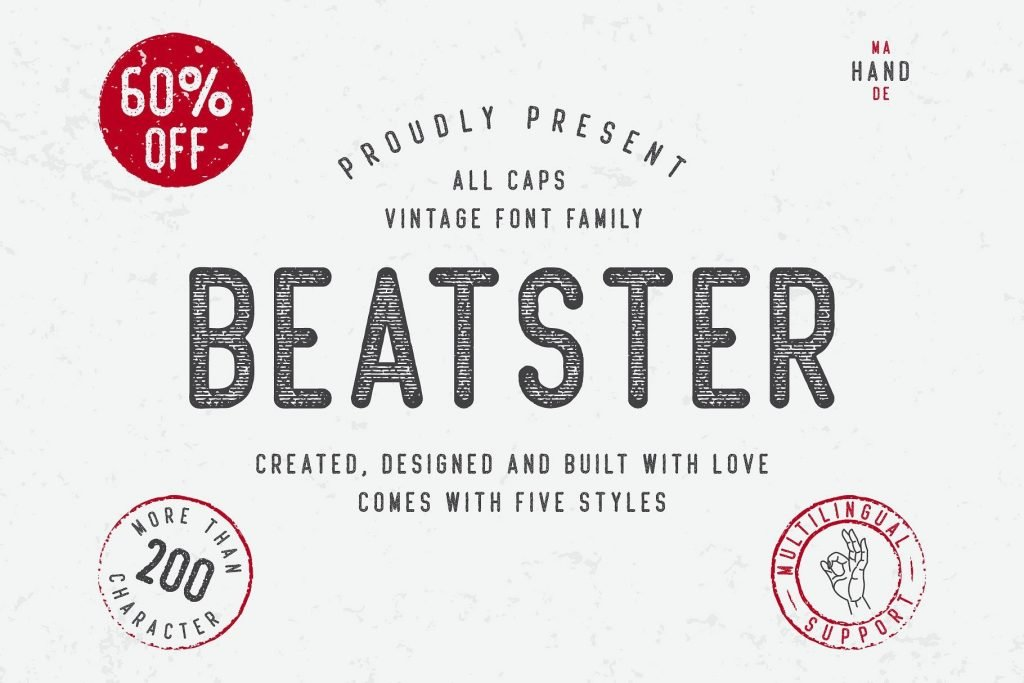 Beatster [5 Fonts] | The Fonts Master