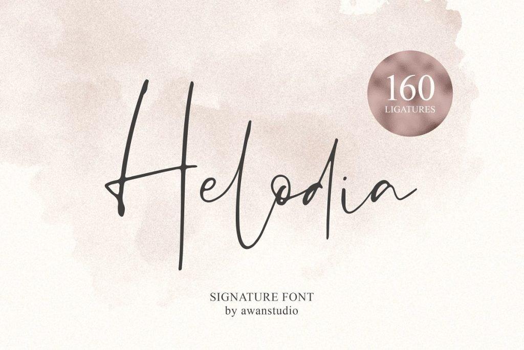 Helodia [1 Font]   The Fonts Master